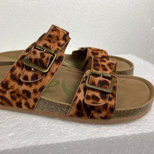 Mules & Clogs Print Leopard Sz 7